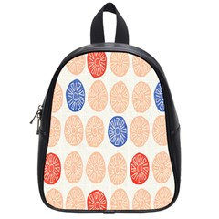 Wheel Circle Red Blue School Bags (Small)