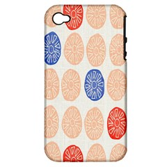 Wheel Circle Red Blue Apple iPhone 4/4S Hardshell Case (PC+Silicone)