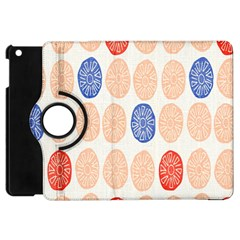 Wheel Circle Red Blue Apple iPad Mini Flip 360 Case