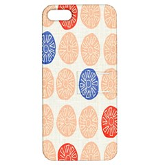 Wheel Circle Red Blue Apple iPhone 5 Hardshell Case with Stand