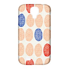 Wheel Circle Red Blue Samsung Galaxy S4 Classic Hardshell Case (PC+Silicone)