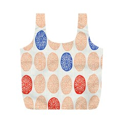 Wheel Circle Red Blue Full Print Recycle Bags (M)