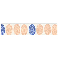 Wheel Circle Red Blue Flano Scarf (Small)