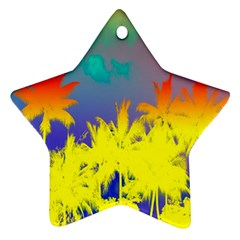 Tropical Cool Coconut Tree Ornament (Star)
