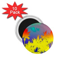 Tropical Cool Coconut Tree 1.75  Magnets (10 pack)