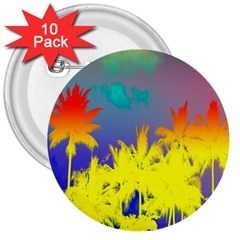 Tropical Cool Coconut Tree 3  Buttons (10 pack)