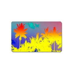 Tropical Cool Coconut Tree Magnet (Name Card)