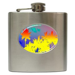 Tropical Cool Coconut Tree Hip Flask (6 oz)