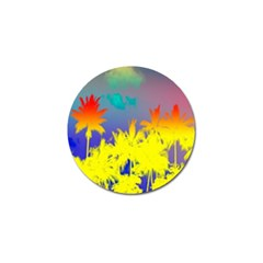 Tropical Cool Coconut Tree Golf Ball Marker (4 pack)