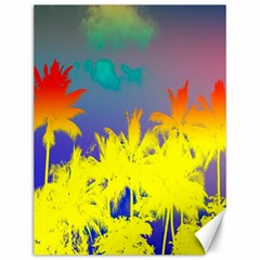 Tropical Cool Coconut Tree Canvas 12  x 16