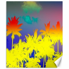 Tropical Cool Coconut Tree Canvas 20  x 24