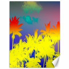 Tropical Cool Coconut Tree Canvas 36  x 48