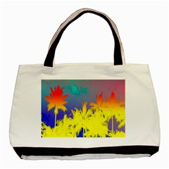 Tropical Cool Coconut Tree Basic Tote Bag (Two Sides)