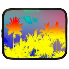 Tropical Cool Coconut Tree Netbook Case (Large)