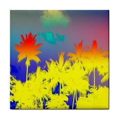Tropical Cool Coconut Tree Face Towel