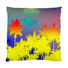 Tropical Cool Coconut Tree Standard Cushion Case (One Side)