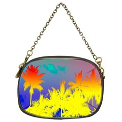 Tropical Cool Coconut Tree Chain Purses (Two Sides)