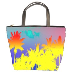 Tropical Cool Coconut Tree Bucket Bags