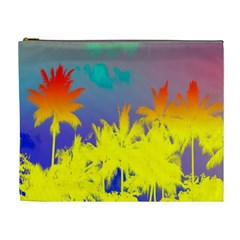 Tropical Cool Coconut Tree Cosmetic Bag (XL)