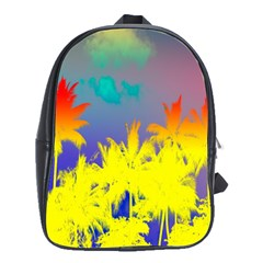 Tropical Cool Coconut Tree School Bags(Large)