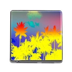 Tropical Cool Coconut Tree Memory Card Reader (Square)