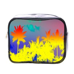 Tropical Cool Coconut Tree Mini Toiletries Bags