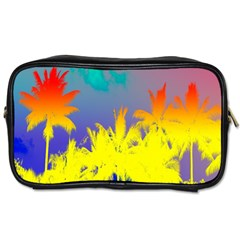 Tropical Cool Coconut Tree Toiletries Bags