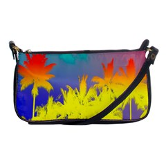 Tropical Cool Coconut Tree Shoulder Clutch Bags