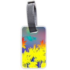 Tropical Cool Coconut Tree Luggage Tags (One Side)