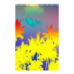 Tropical Cool Coconut Tree Shower Curtain 48  x 72  (Small)