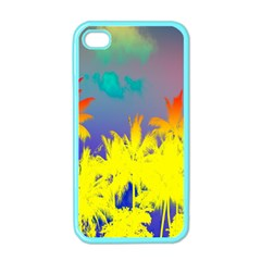 Tropical Cool Coconut Tree Apple iPhone 4 Case (Color)