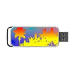 Tropical Cool Coconut Tree Portable USB Flash (Two Sides)