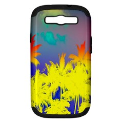 Tropical Cool Coconut Tree Samsung Galaxy S III Hardshell Case (PC+Silicone)