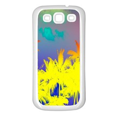 Tropical Cool Coconut Tree Samsung Galaxy S3 Back Case (White)