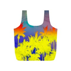 Tropical Cool Coconut Tree Full Print Recycle Bags (S)
