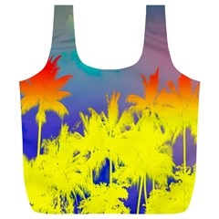 Tropical Cool Coconut Tree Full Print Recycle Bags (L)