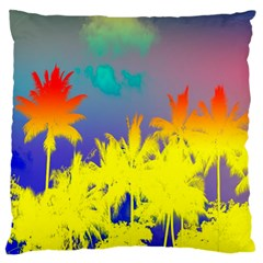 Tropical Cool Coconut Tree Standard Flano Cushion Case (One Side)