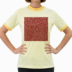 Tangled Thread Red White Women s Fitted Ringer T-Shirts