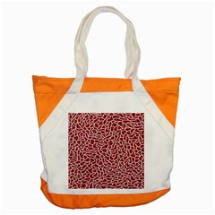 Tangled Thread Red White Accent Tote Bag