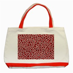 Tangled Thread Red White Classic Tote Bag (Red)