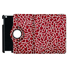 Tangled Thread Red White Apple iPad 3/4 Flip 360 Case