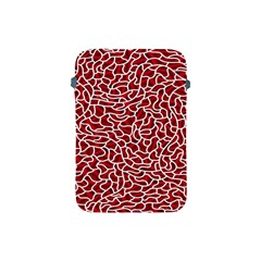 Tangled Thread Red White Apple iPad Mini Protective Soft Cases
