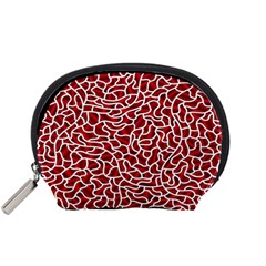 Tangled Thread Red White Accessory Pouches (Small)