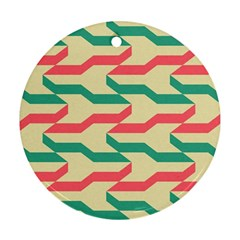 Exturas On Pinterest  Geometric Cutting Seamless Ornament (Round)