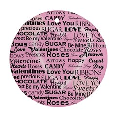 Valentine Love Heart Roses Sweet Pink Ornament (Round)
