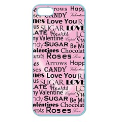 Valentine Love Heart Roses Sweet Pink Apple Seamless iPhone 5 Case (Color)
