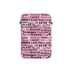 Valentine Love Heart Roses Sweet Pink Apple iPad Mini Protective Soft Cases