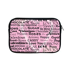 Valentine Love Heart Roses Sweet Pink Apple iPad Mini Zipper Cases
