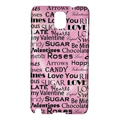 Valentine Love Heart Roses Sweet Pink Samsung Galaxy Note 3 N9005 Hardshell Case
