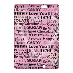 Valentine Love Heart Roses Sweet Pink Kindle Fire HDX 8.9  Hardshell Case